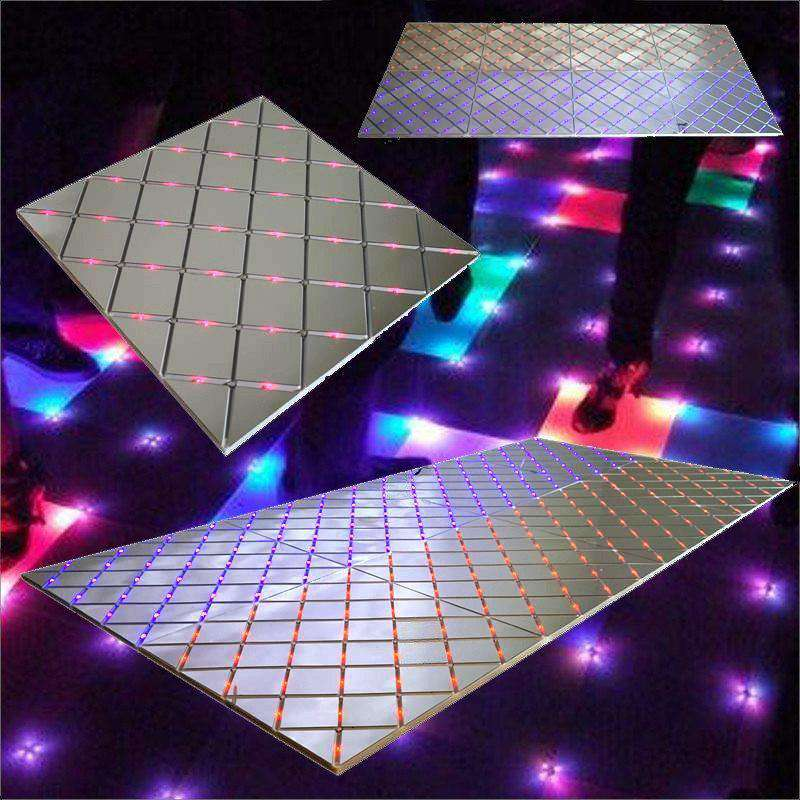 "8 PCS  Wholesale Illuminated Mirror LED Wedding Party Dance Floor - 24"" Wide x 24"" Long"
