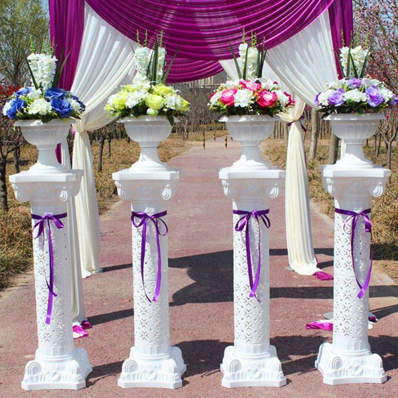 "Illuminating Royal Verona Wedding Columns 41"" Tall with LED Lights - 4PCS/Set"