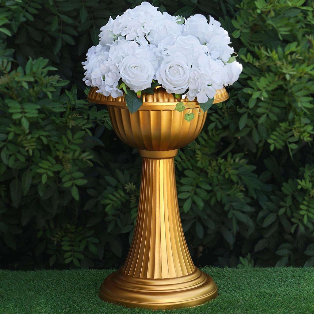 "4 Pack 23"" Tall Crafted Gold All Weather Floral Plant Stand"