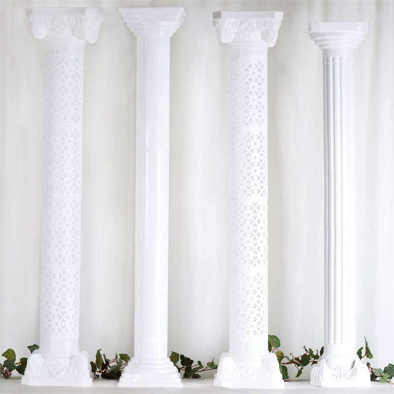 Verona Roman PVC Columns Extension - 4/set