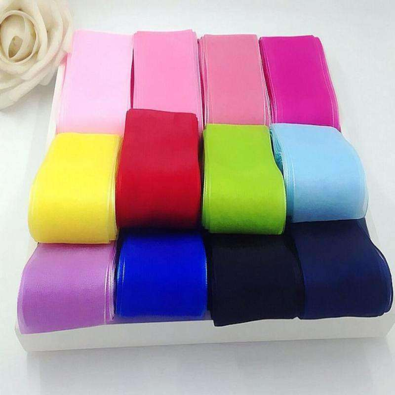 "25 Yard 1.5"" DIY Eggplant Organza Ribbon With Mono Satin Edge For Craft Dress Wedding"