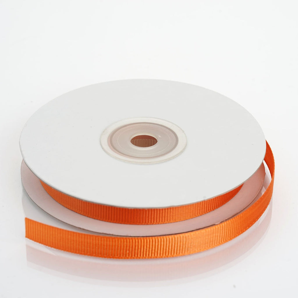 "25 Yards 3/8"" DIY Orange Grosgrain Ribbon"