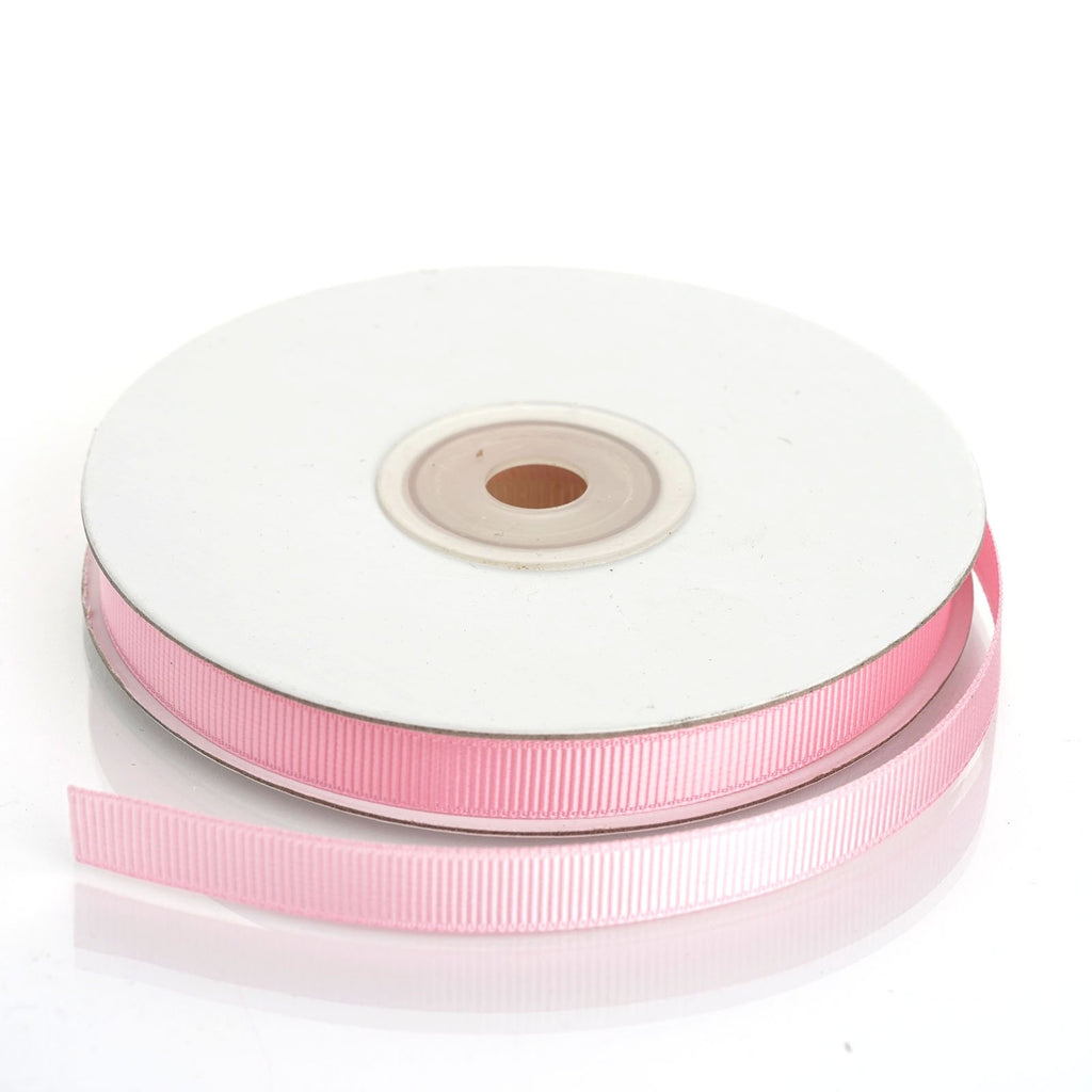 "25 Yards 3/8"" DIY Pink Grosgrain Ribbon"