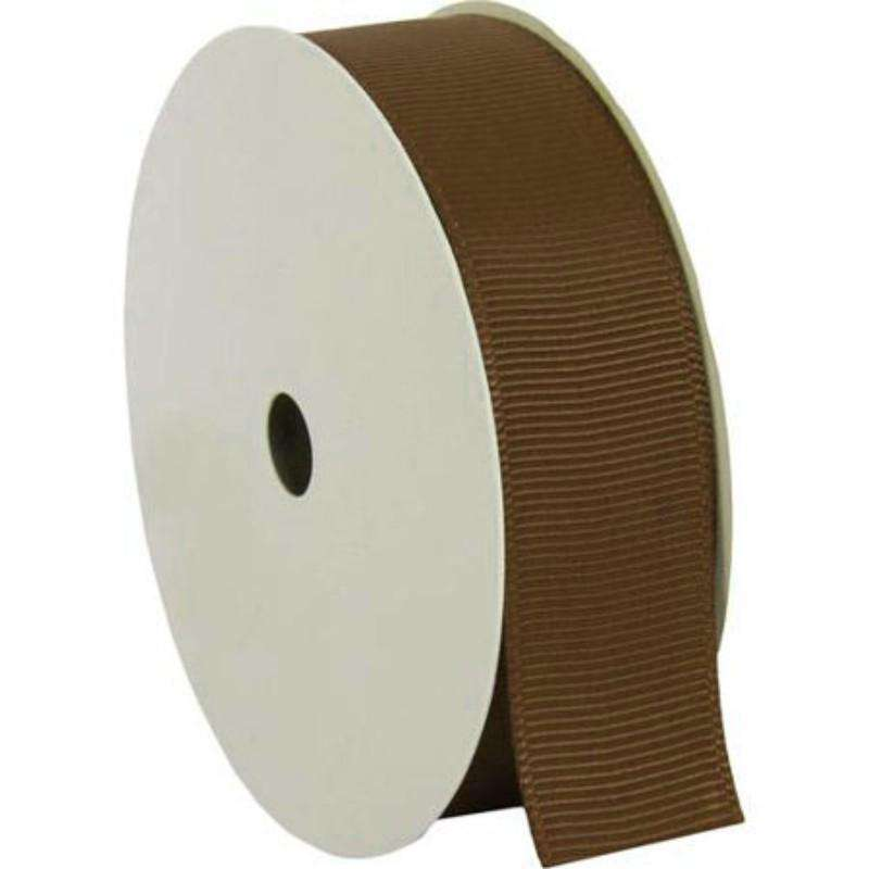 "25 Yards 7/8"" DIY Chocolate Grosgrain Ribbon"