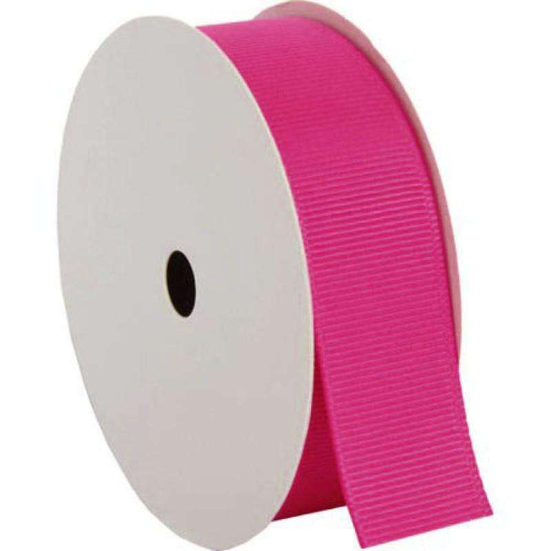"25 Yards 7/8"" DIY Fuchsia Grosgrain Ribbon"