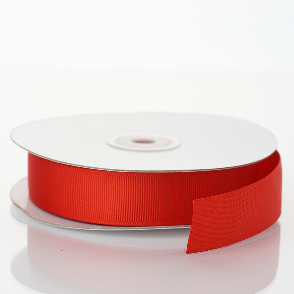 "25 Yards 7/8"" DIY Red Grosgrain Ribbon"