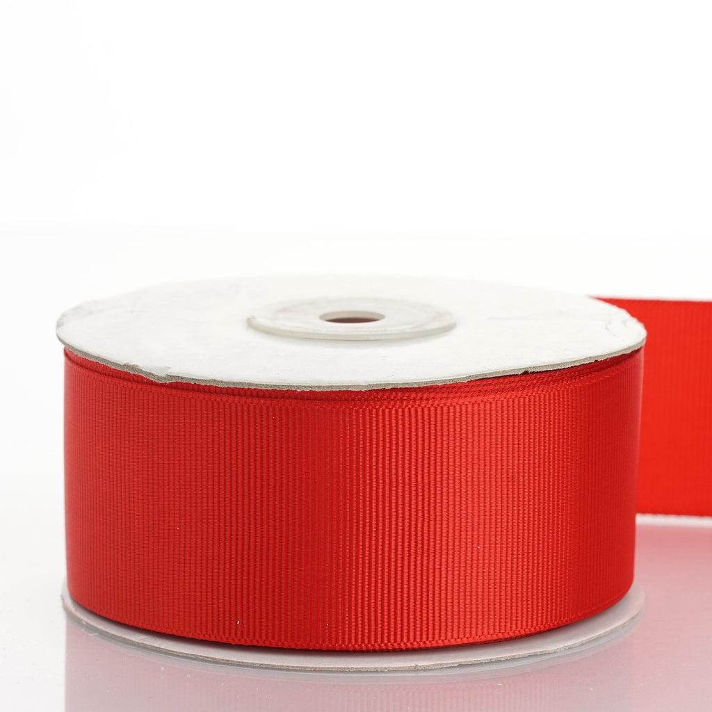 "25 Yards 1.5"" DIY Red Grosgrain Ribbon Decoration"