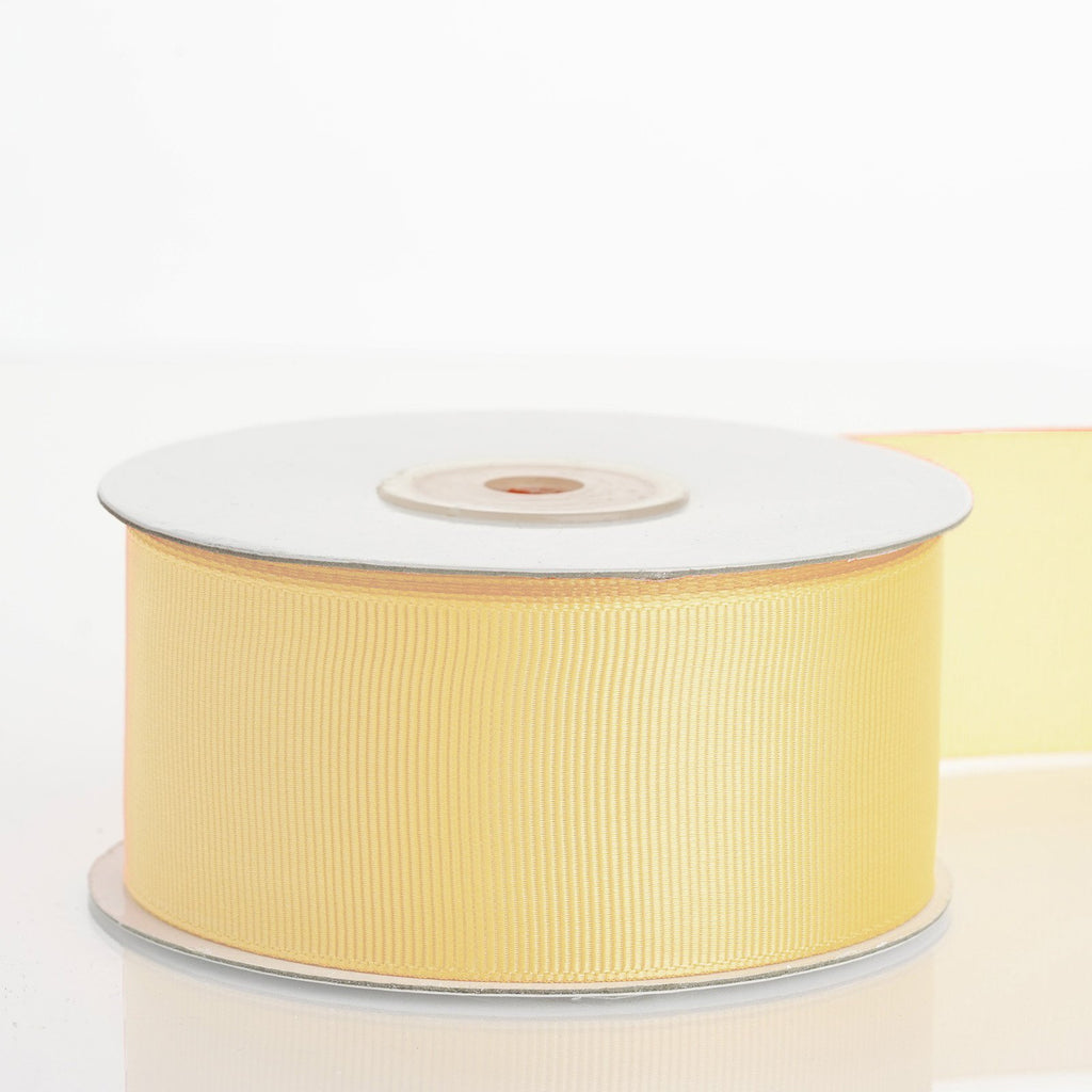 "25 Yards 1.5"" DIY Yellow Grosgrain Ribbon Decoration"