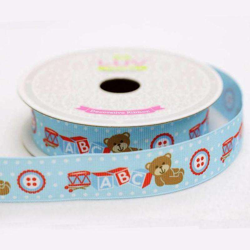 "7/8"" Grosgrain Ribbon - Blue - 10 Yard"