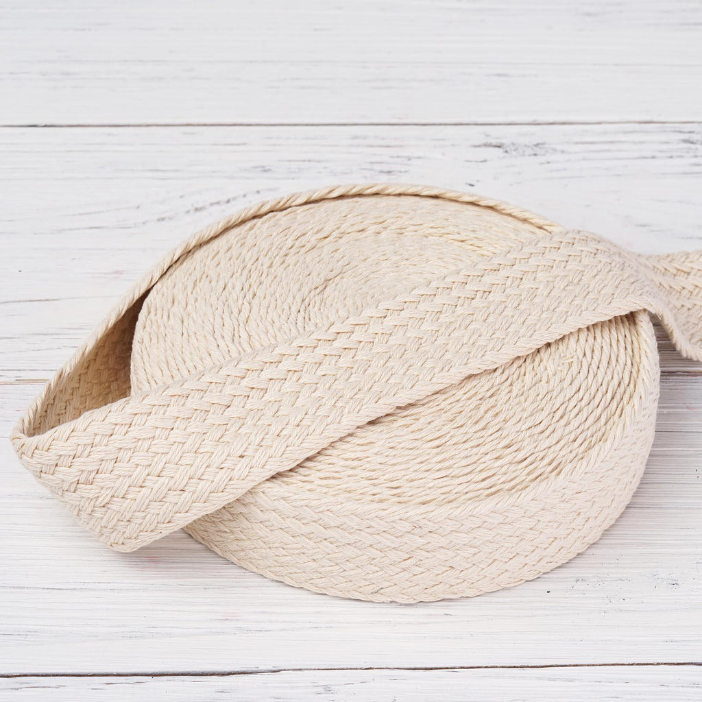 "10 Yards 1.25"" DIY Ivory Picturesque Woven Rustic Burlap Ribbon For Craft Dress Wedding"
