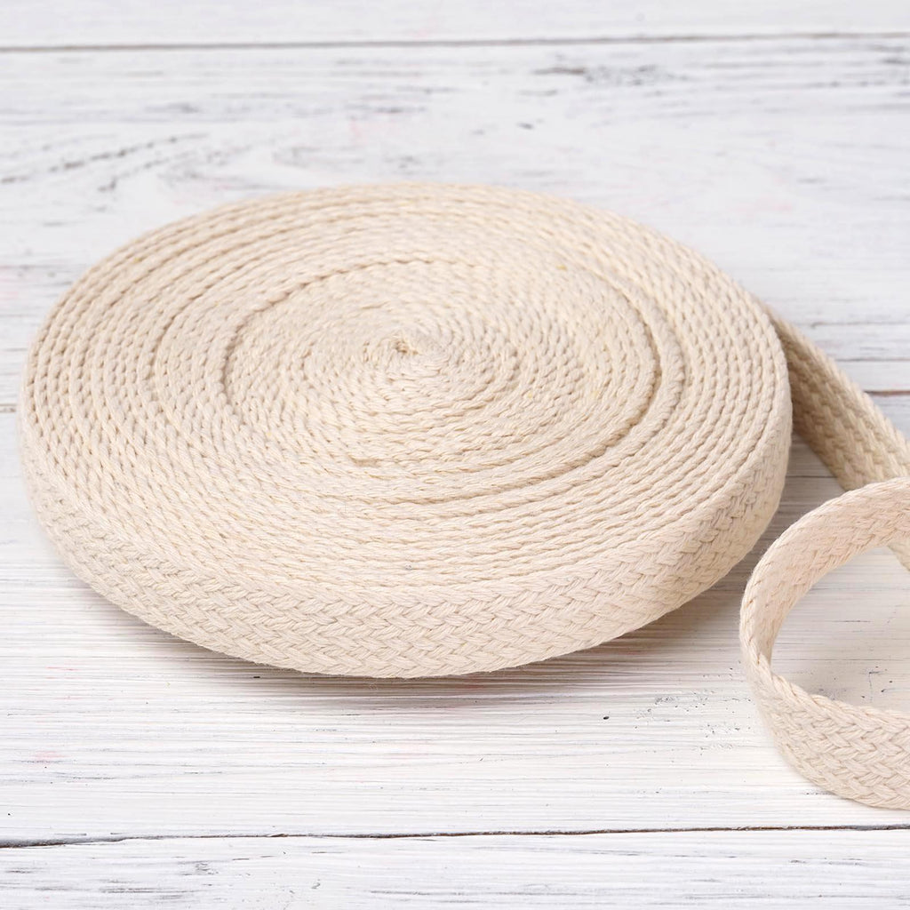 "10 Yards 7/8"" Ivory Natural Picturesque Woven Rustic Burlap Ribbon For Craft Dress Wedding"