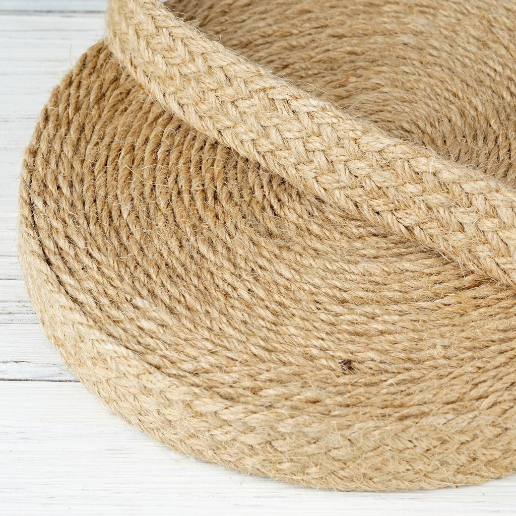 "10 Yards 7/8"" DIY Natural Picturesque Woven Rustic Burlap Ribbon For Craft Dress Wedding"