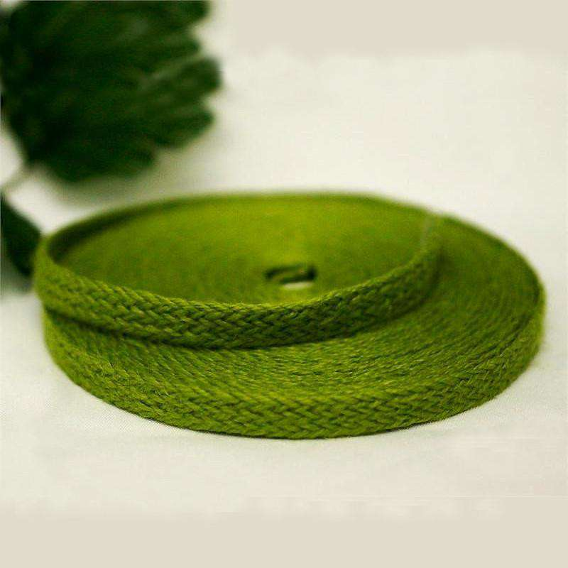 "Picture Perfect Woven Trim - Green 1/2"" x 10yards - Burlap"
