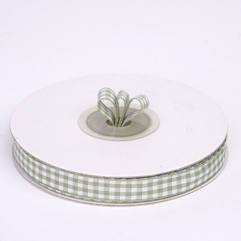 "25 Yard 3/8"" DIY Willow Gingham Checkered Ribbon"