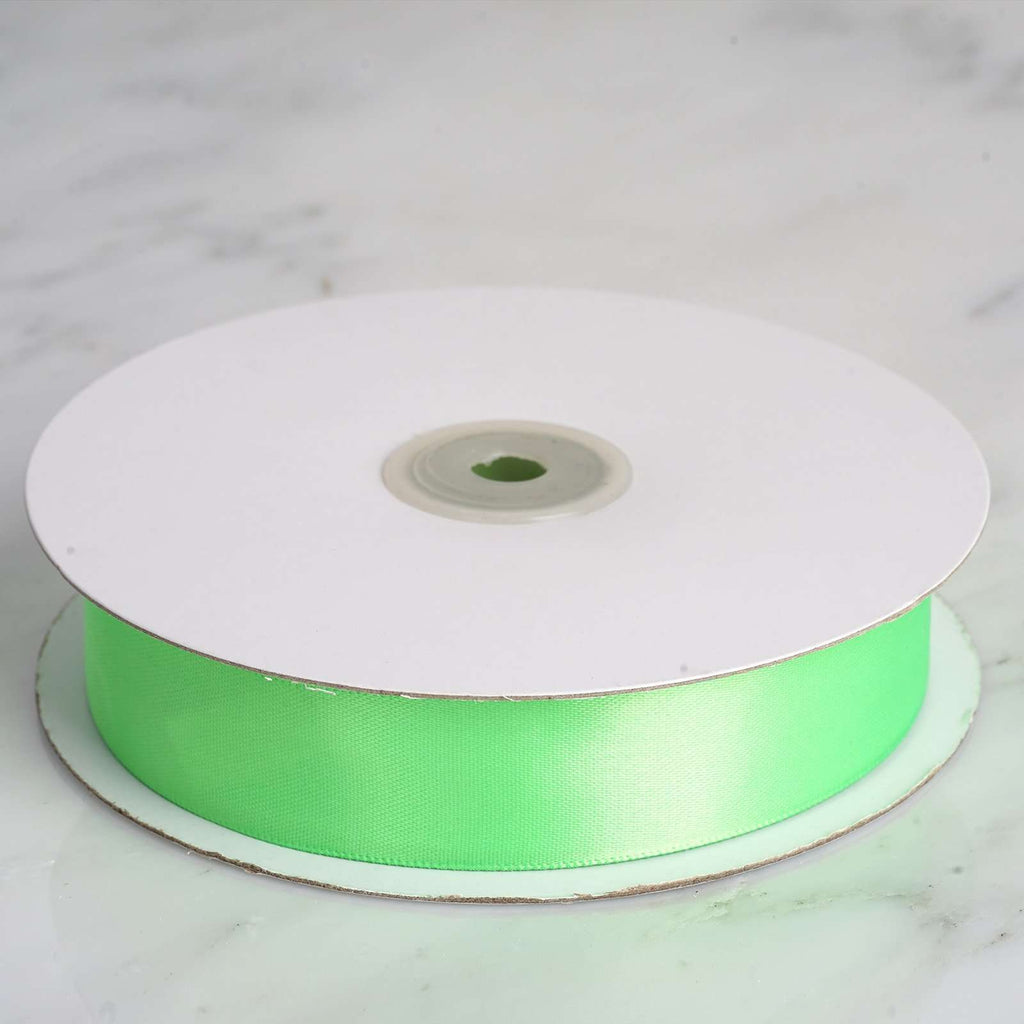 "50 Yards 1"" DIY Apple Green Satin Ribbon"