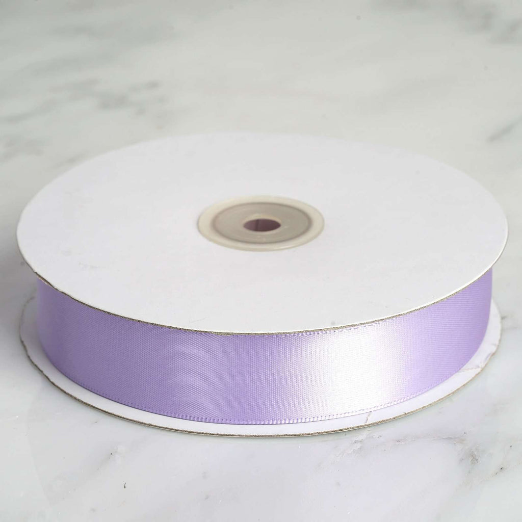 "50 Yards 1"" DIY Lavender Satin Ribbon"