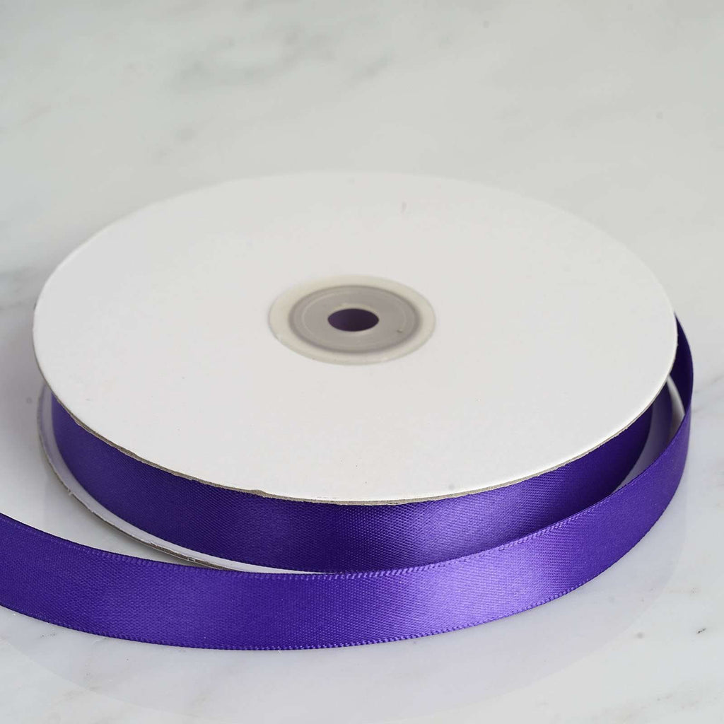 "50 Yards 5/8"" DIY Purple Satin Ribbon"