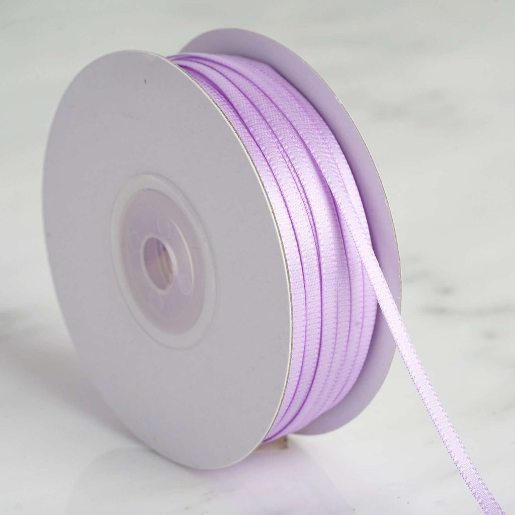 "100 Yards 1/8"" DIY Lavender Satin Ribbon"