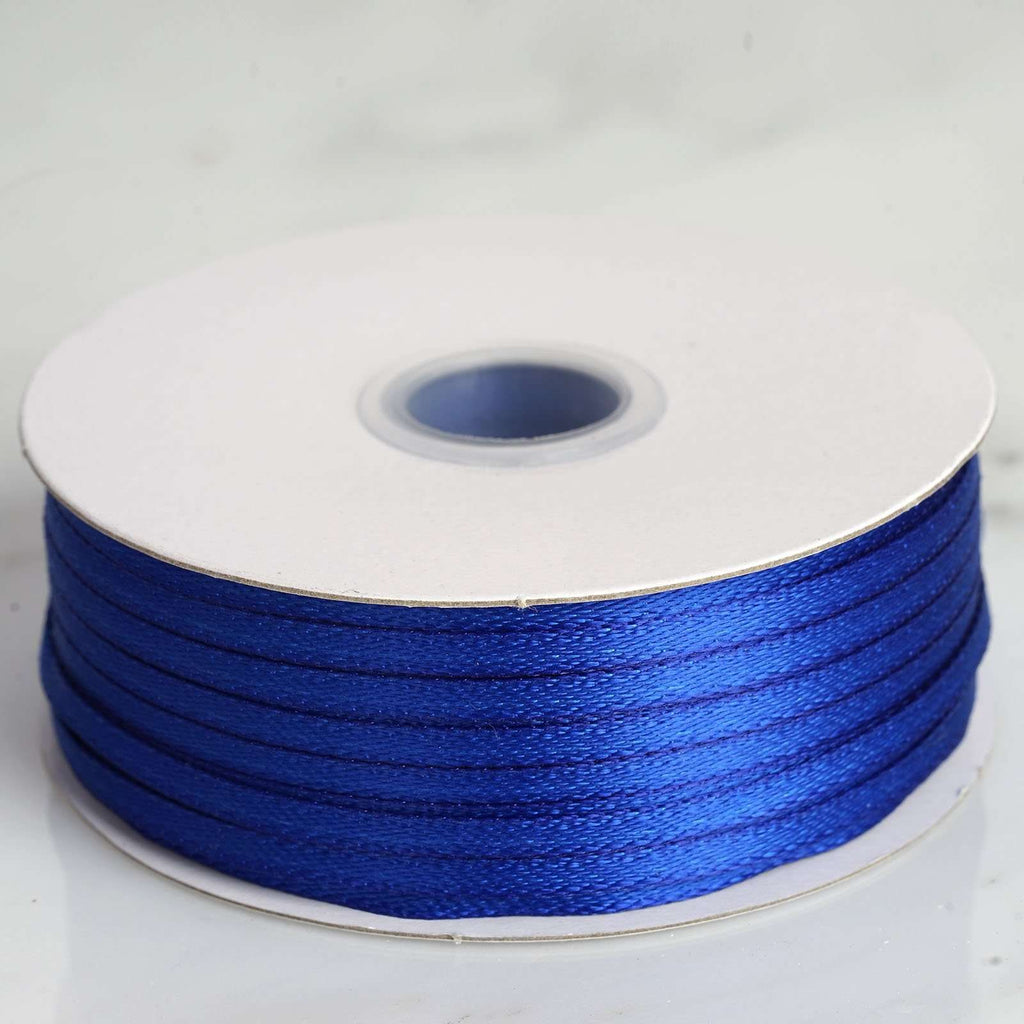 "100 Yards 1/8"" DIY Royal Blue Satin Ribbon"
