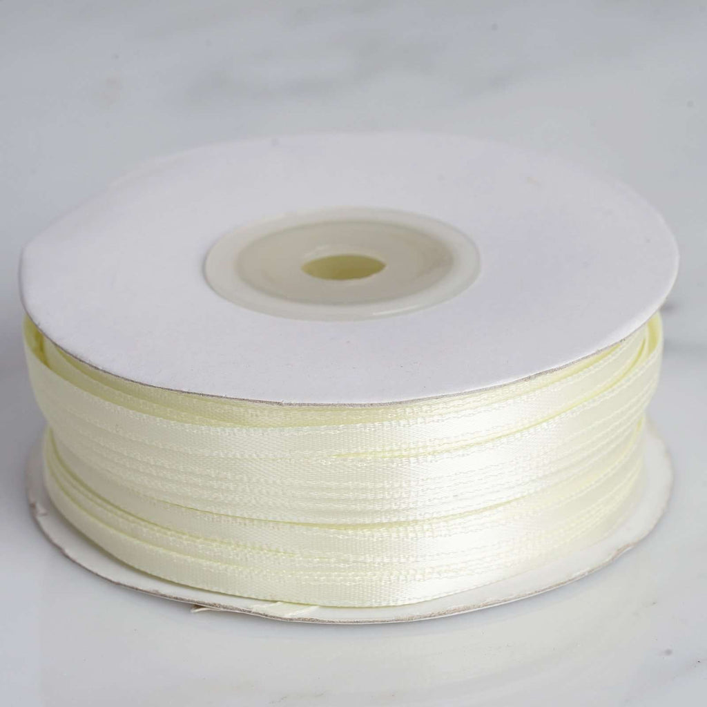 "100 Yards 1/8"" DIY Yellow Satin Ribbon"