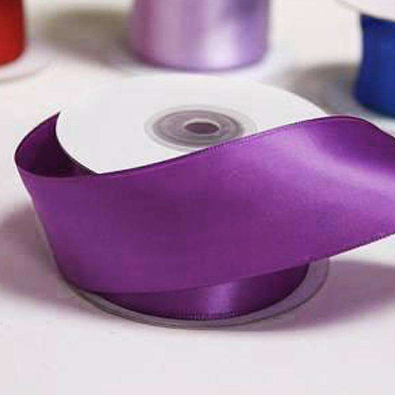 "1.5"" Wired Satin Ribbon - Eggplant - 10 Yard"