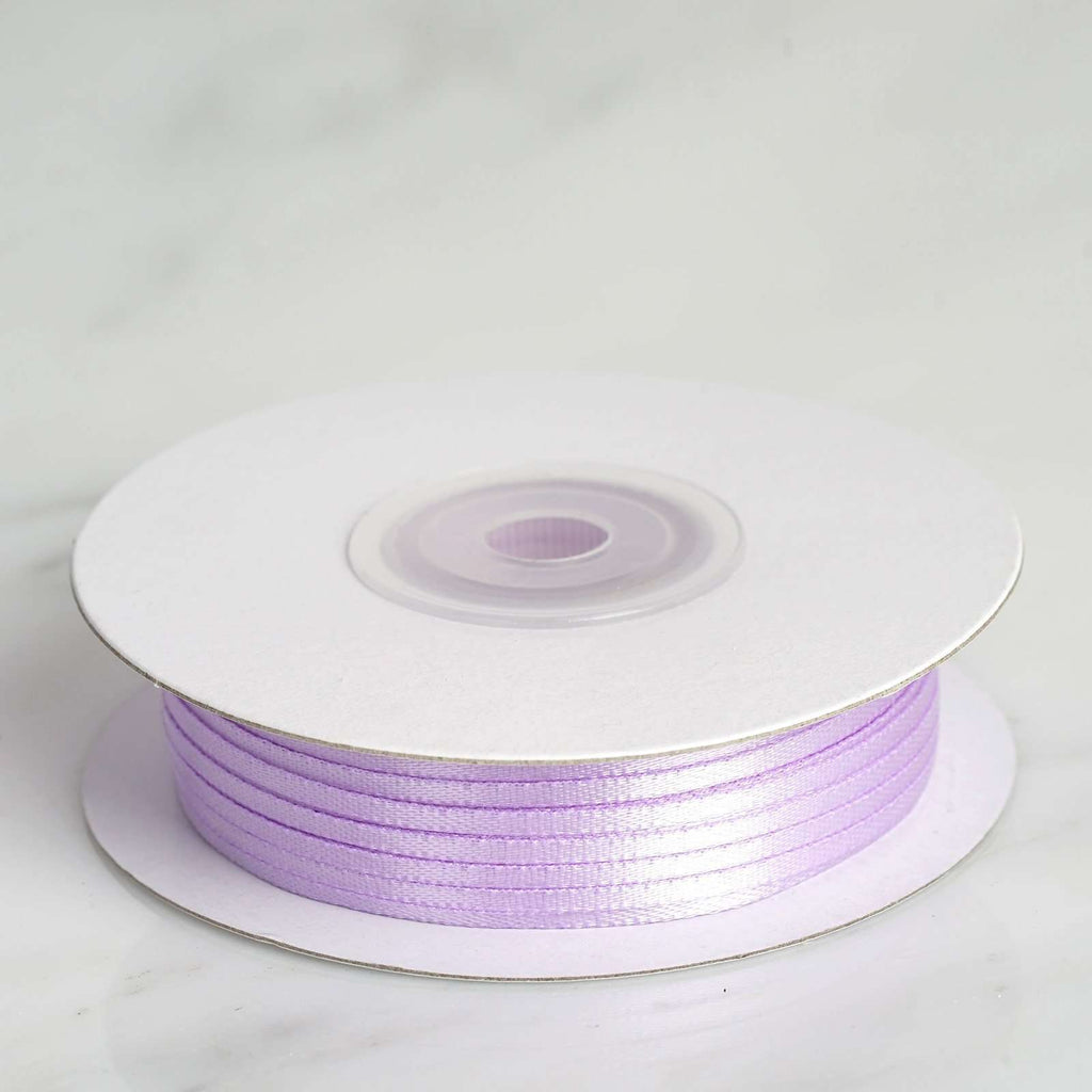 "100 Yards 1/16"" DIY Lavender Single Face Satin Ribbon"