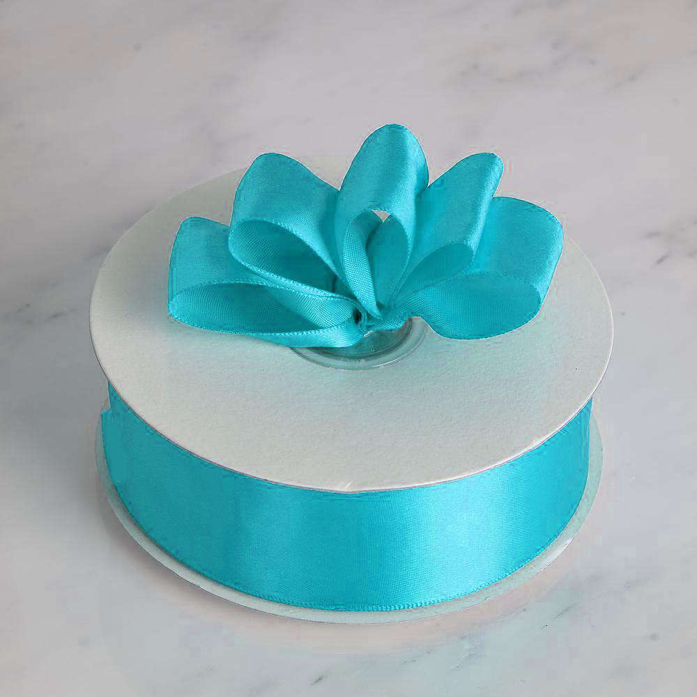 "50 Yards 1.5"" DIY Turquoise Satin Ribbon"