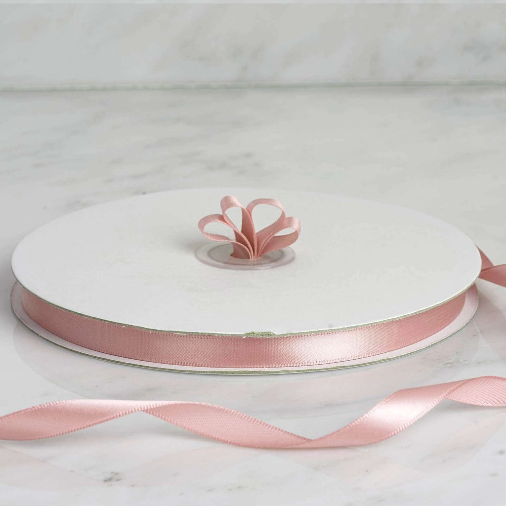 "100 Yards 3/8"" Rose Gold/Blush Decorative Satin Ribbon"