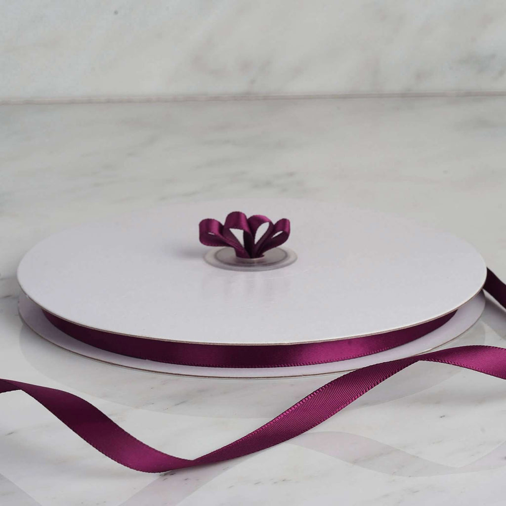 "100 Yards 3/8"" Eggplant Decorative Satin Ribbon"