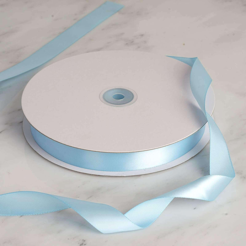 "100 Yards 7/8"" DIY Baby Blue Satin Ribbon"