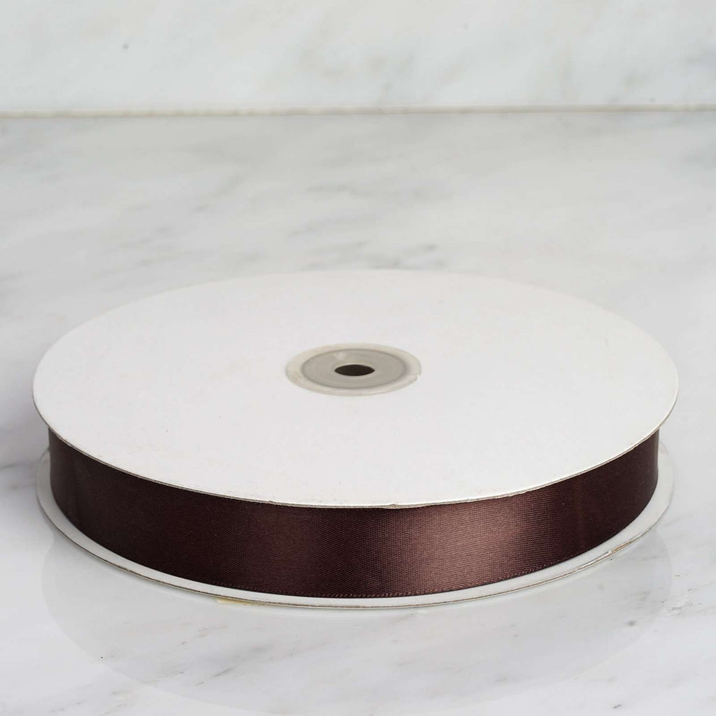"100 Yards 7/8"" DIY Chocolate Satin Ribbon"