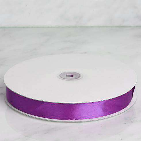 "100 Yards 7/8"" DIY Eggplant Satin Ribbon"