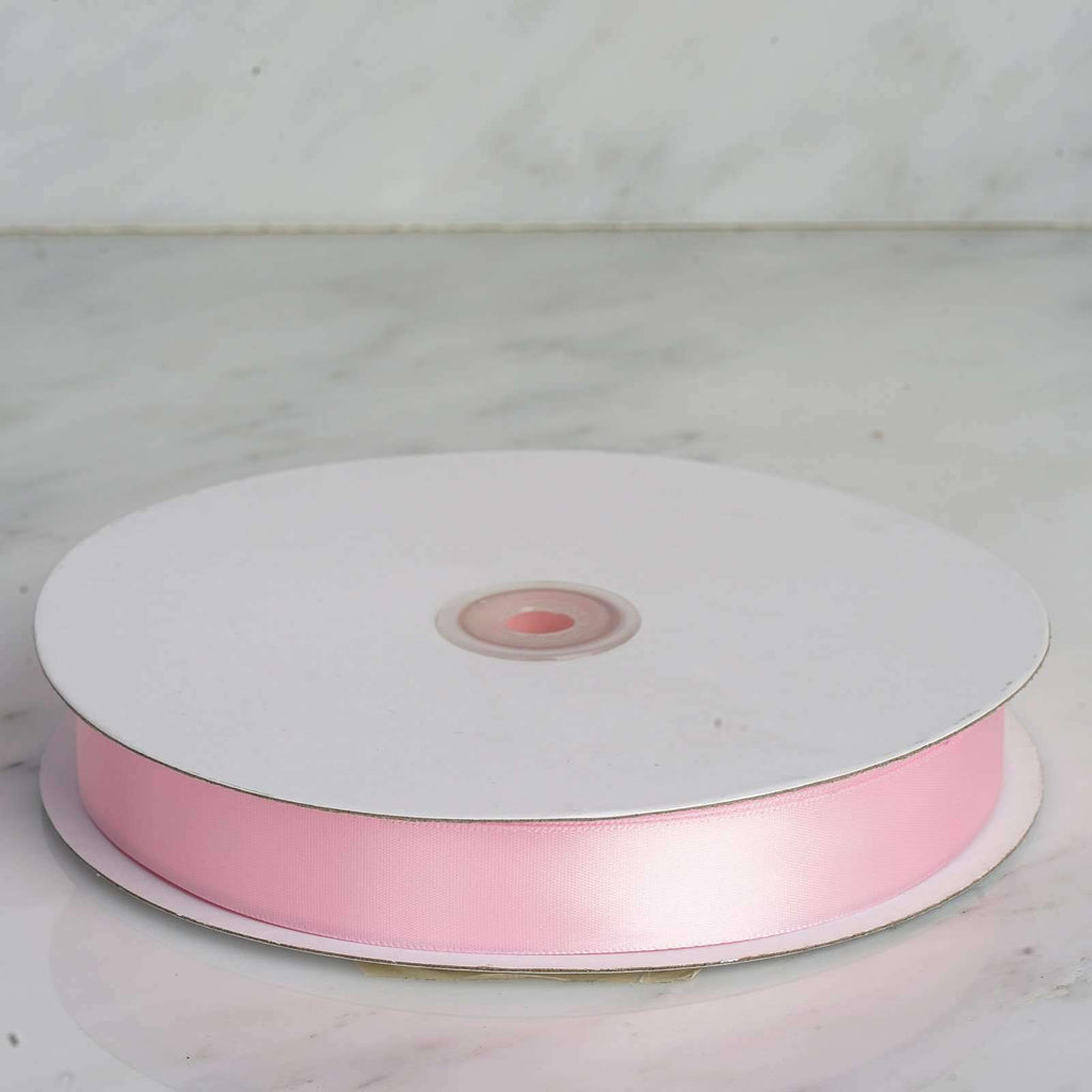 "100 Yards 7/8"" DIY Pink Satin Ribbon"