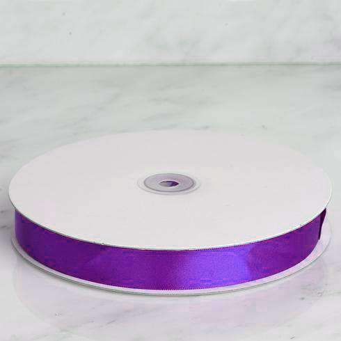 "100 Yards 7/8"" DIY Purple Satin Ribbon"