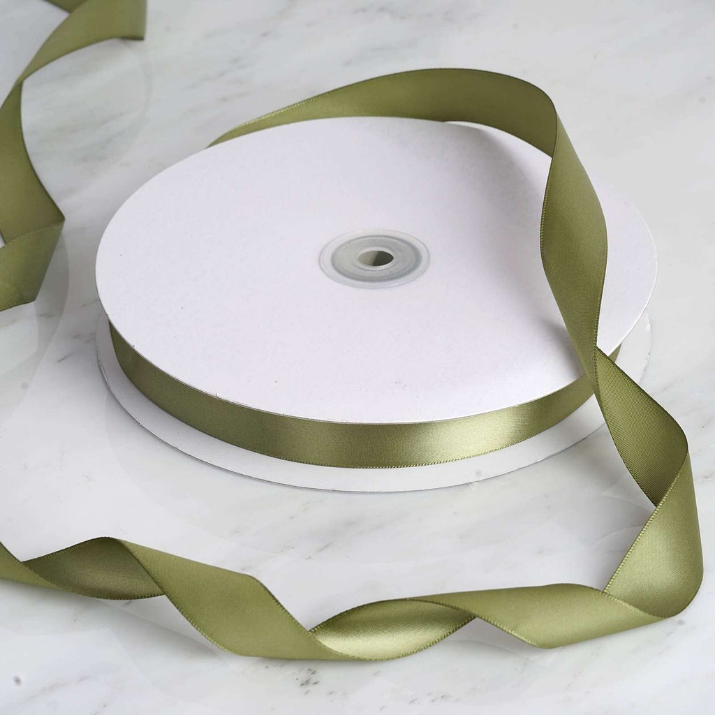 "100 Yards 7/8"" DIY Moss/Willow Satin Ribbon"
