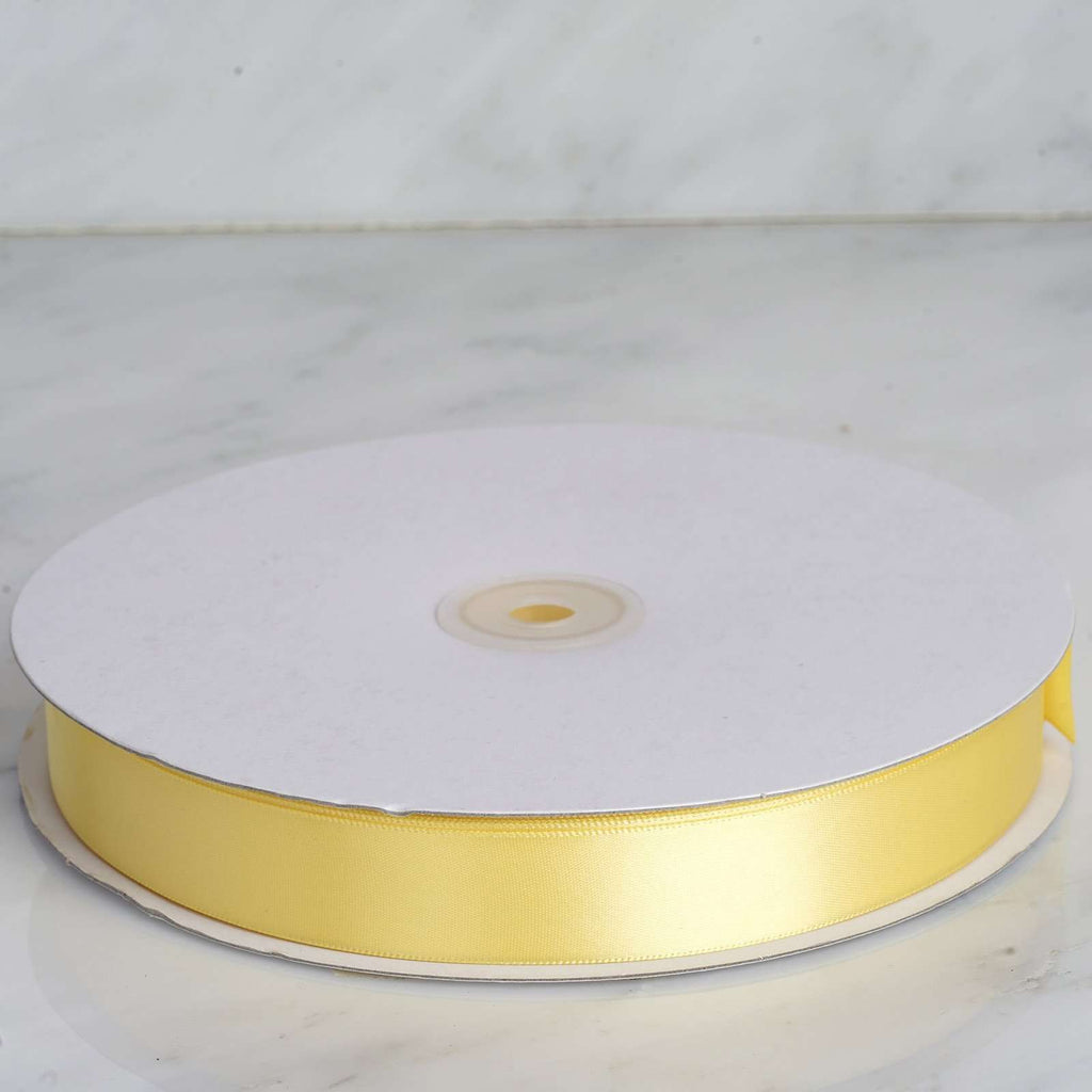 "100 Yards 7/8"" DIY Yellow Satin Ribbon"