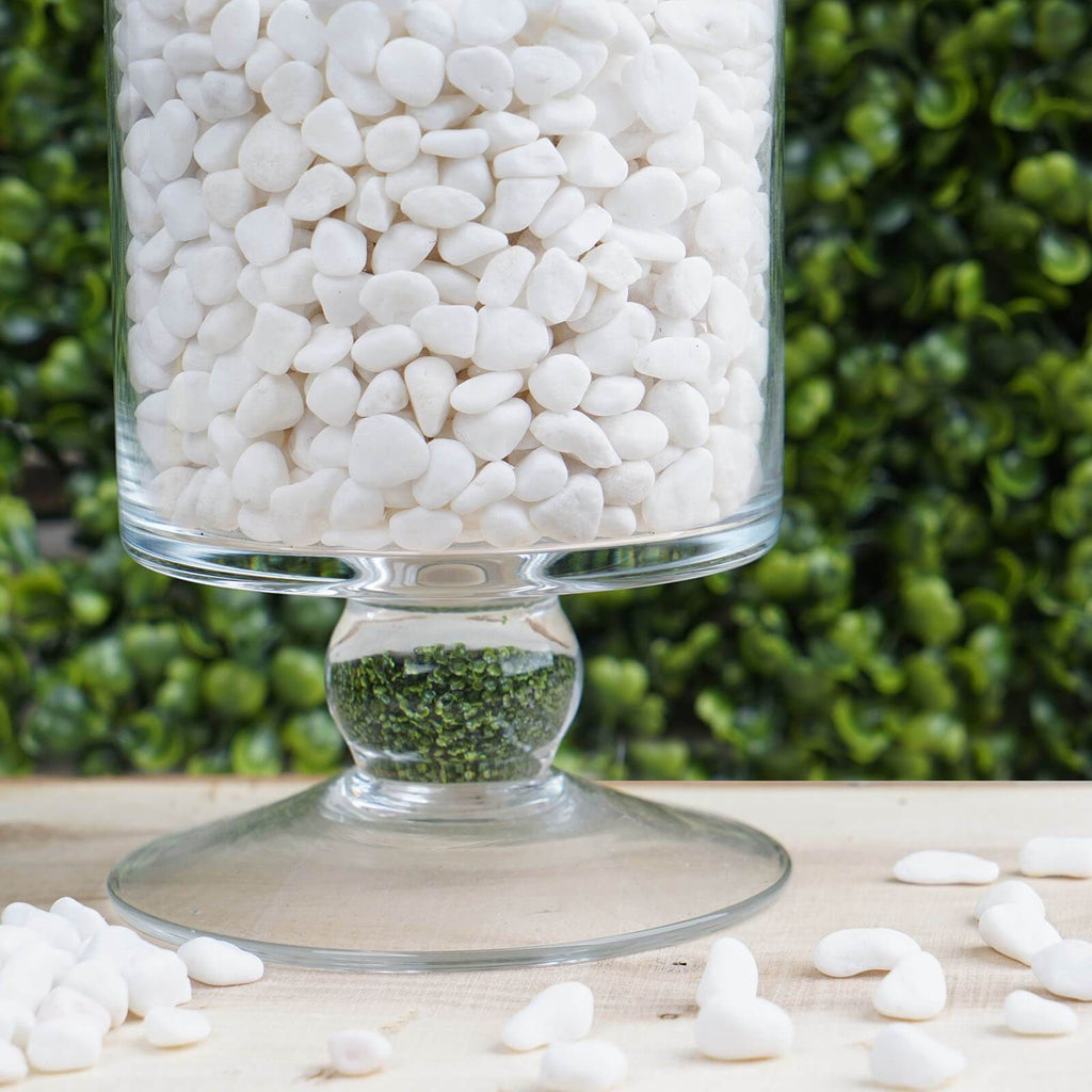 Pack of 2 Lbs | White | Decorative Crushed Gravel Pebble Stones Vase Fillers