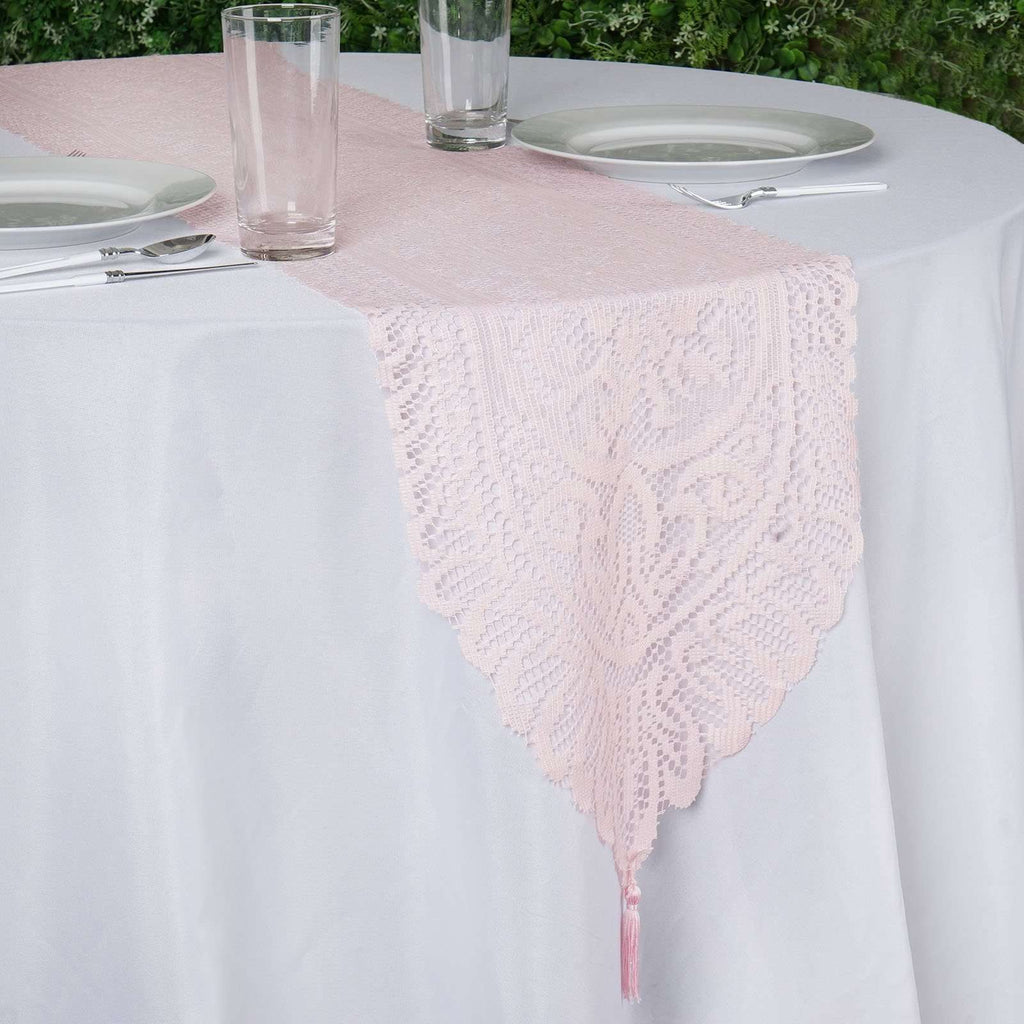 Blush Lace Runner For Table Top Banquet