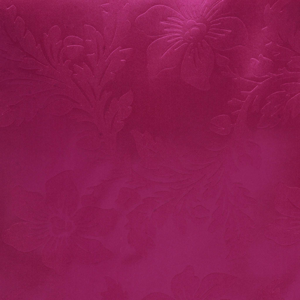Lily Embossed Satin Table Runner - Fushia