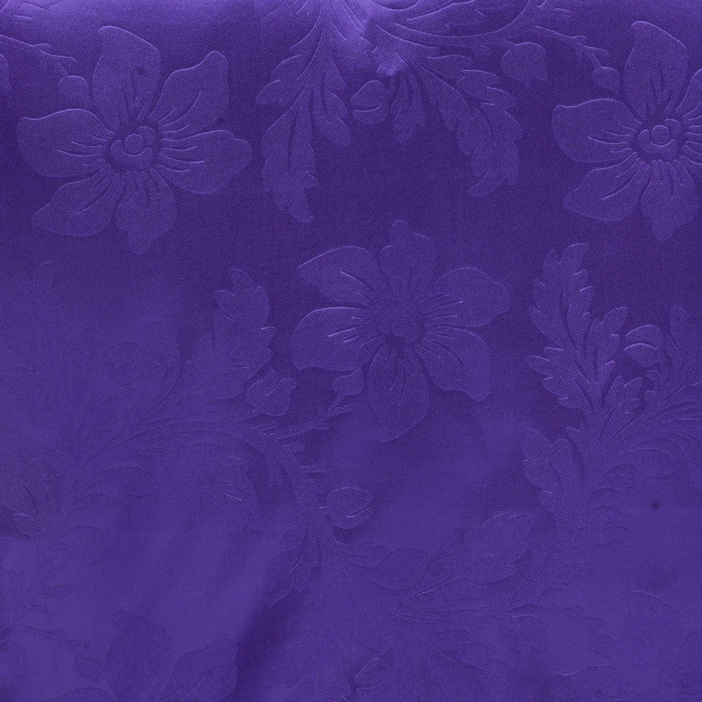 Lily Embossed Satin Table Runner - Purple
