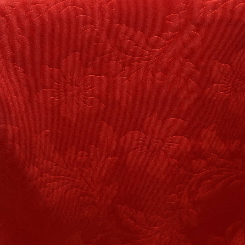 Lily Embossed Satin Table Runner - Red