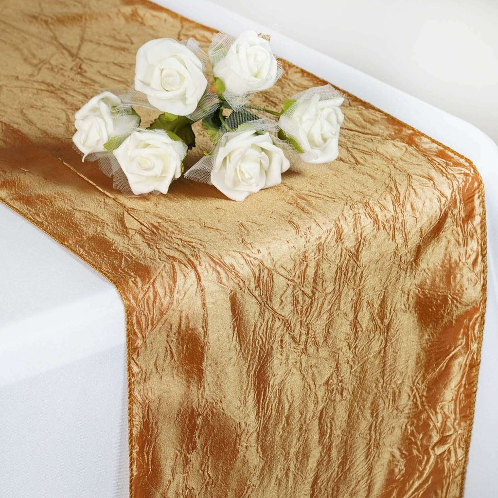 Table Runner Taffeta Crinkle - Gold