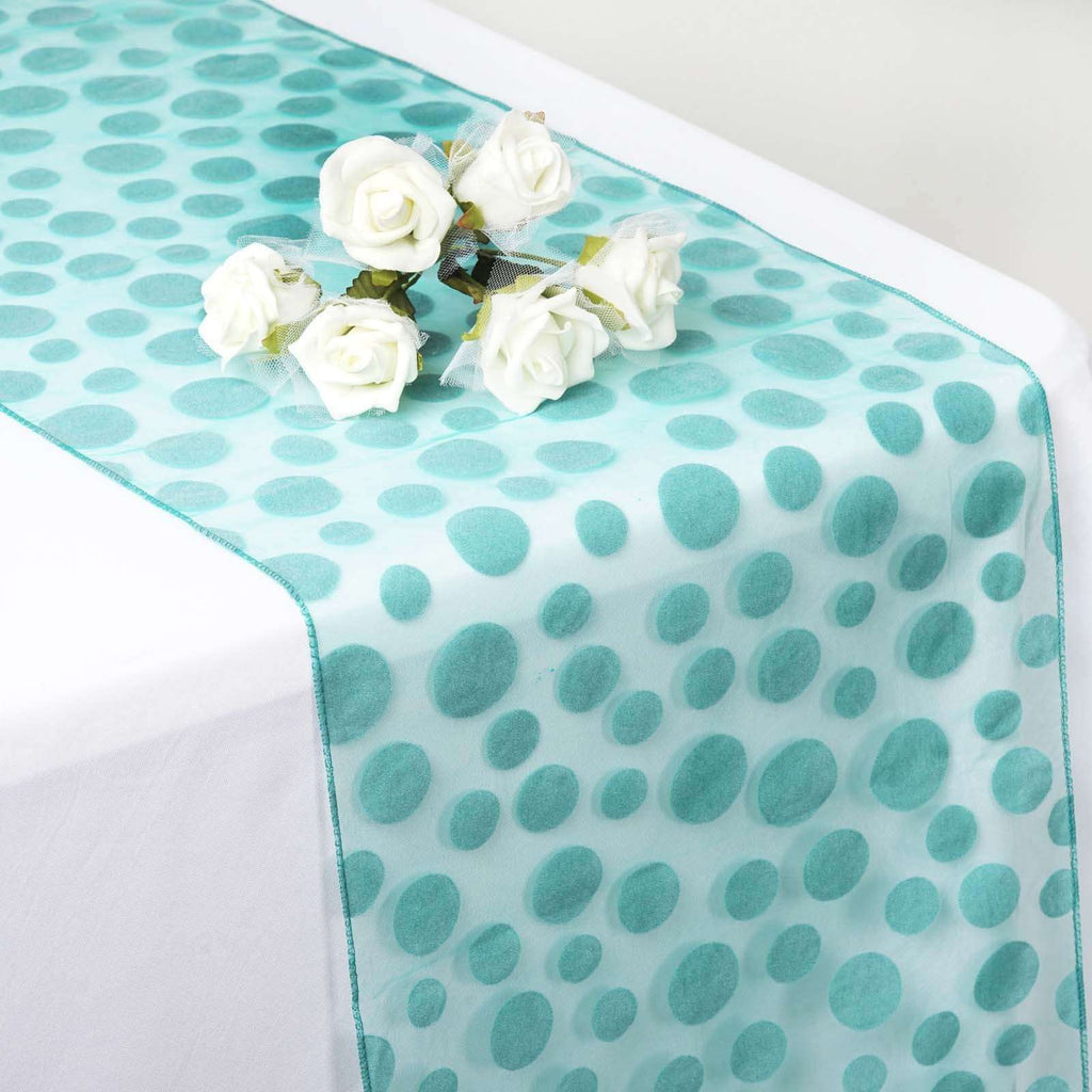 Groovy Dots Table Runner - Emerald