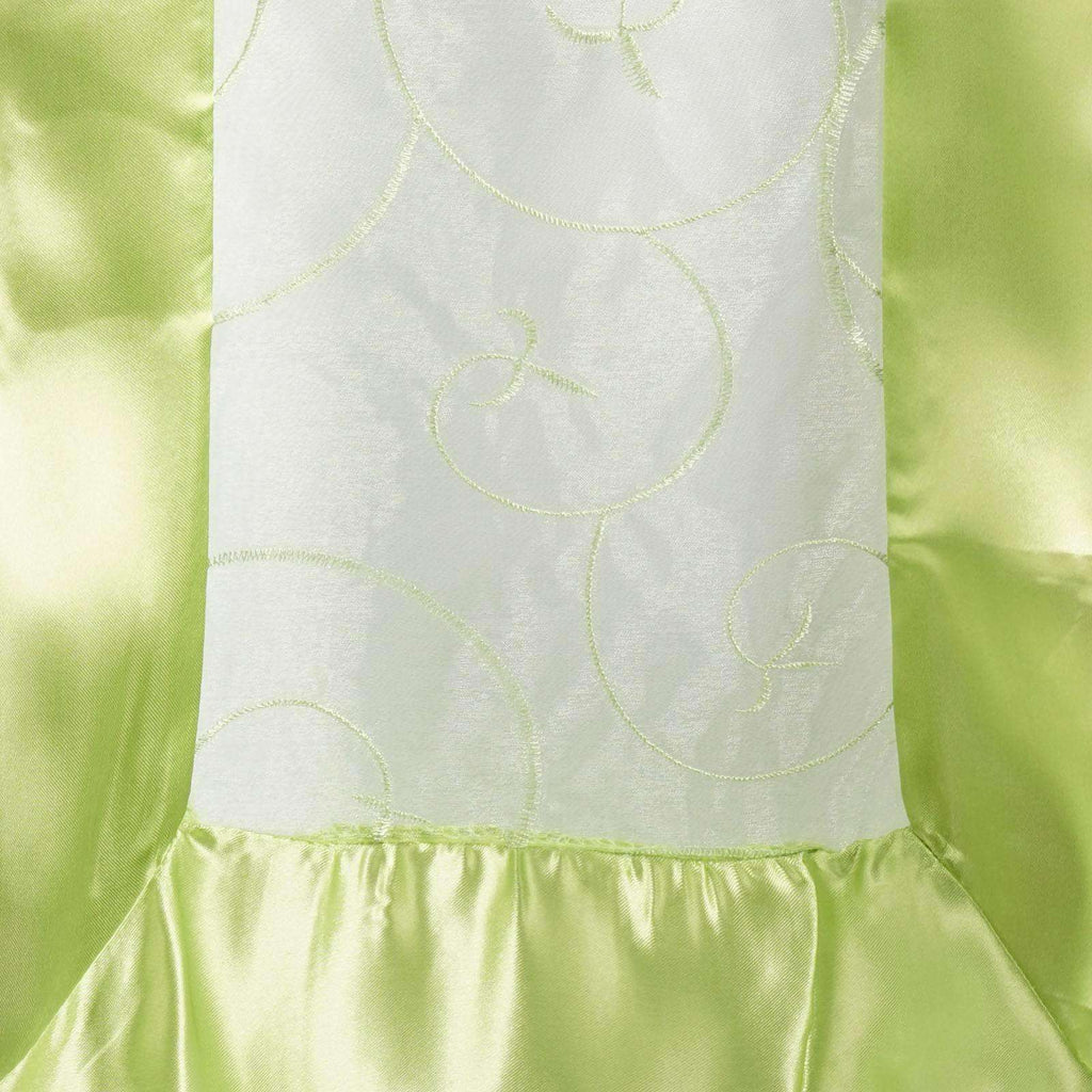 Table Runner Embroider - Apple Green