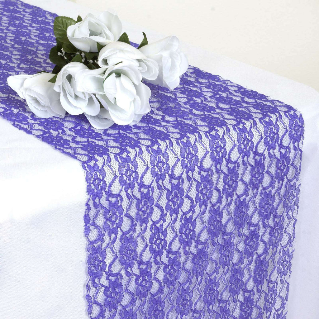Floral Lace Runner - Royal Blue