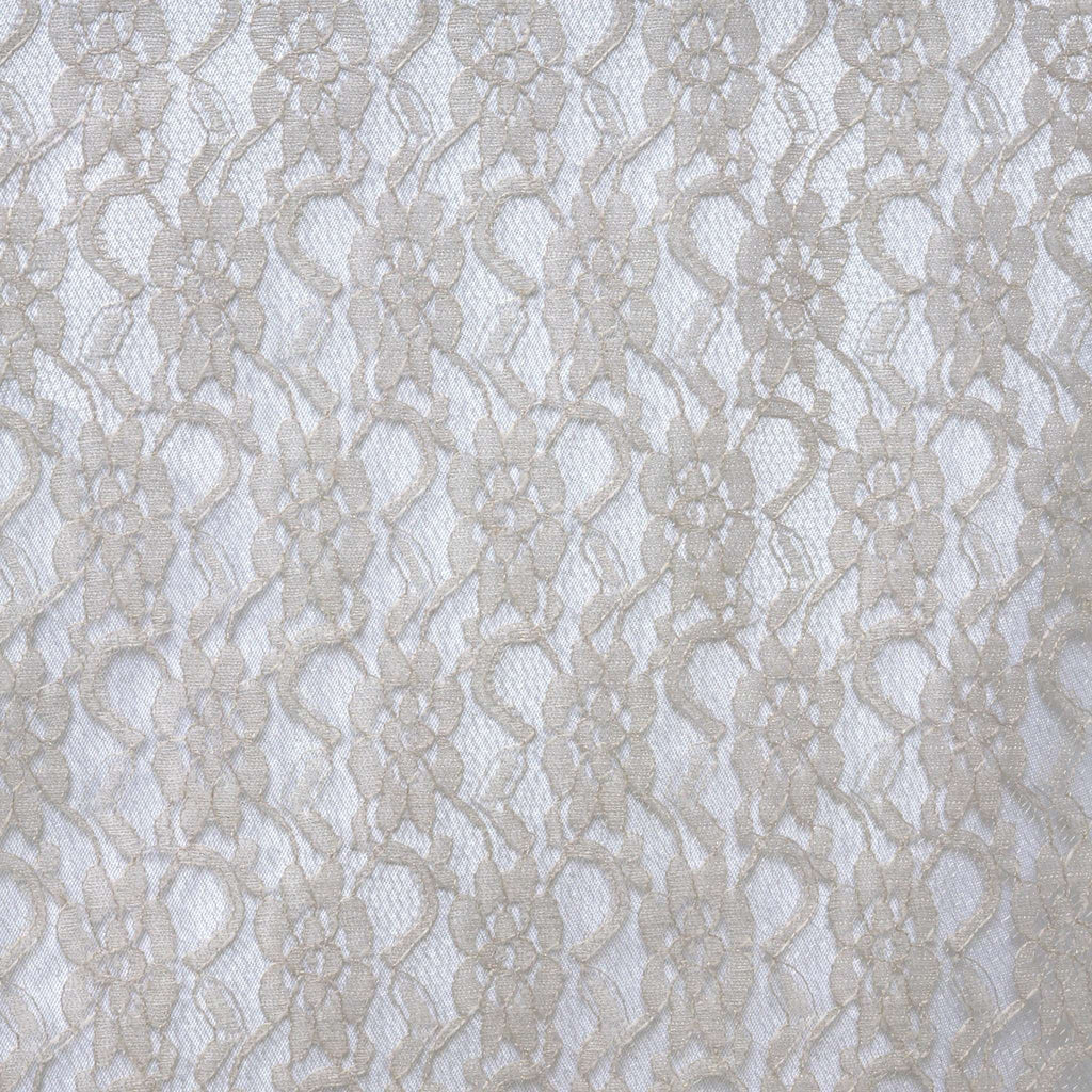 Floral Lace Runner - Silver