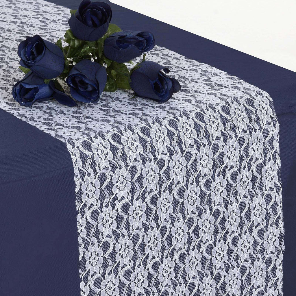 Floral Lace Runner - White