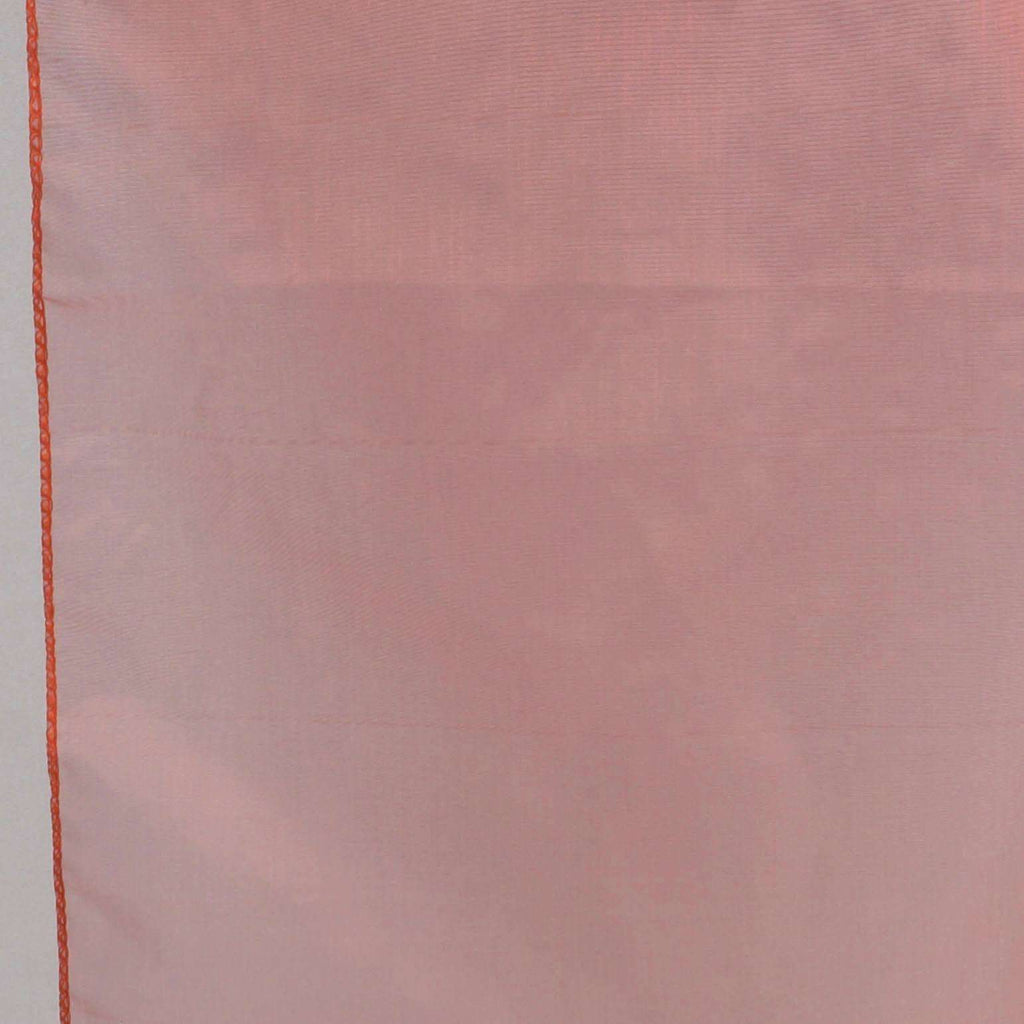 Table Runner Organza - Burnt Orange
