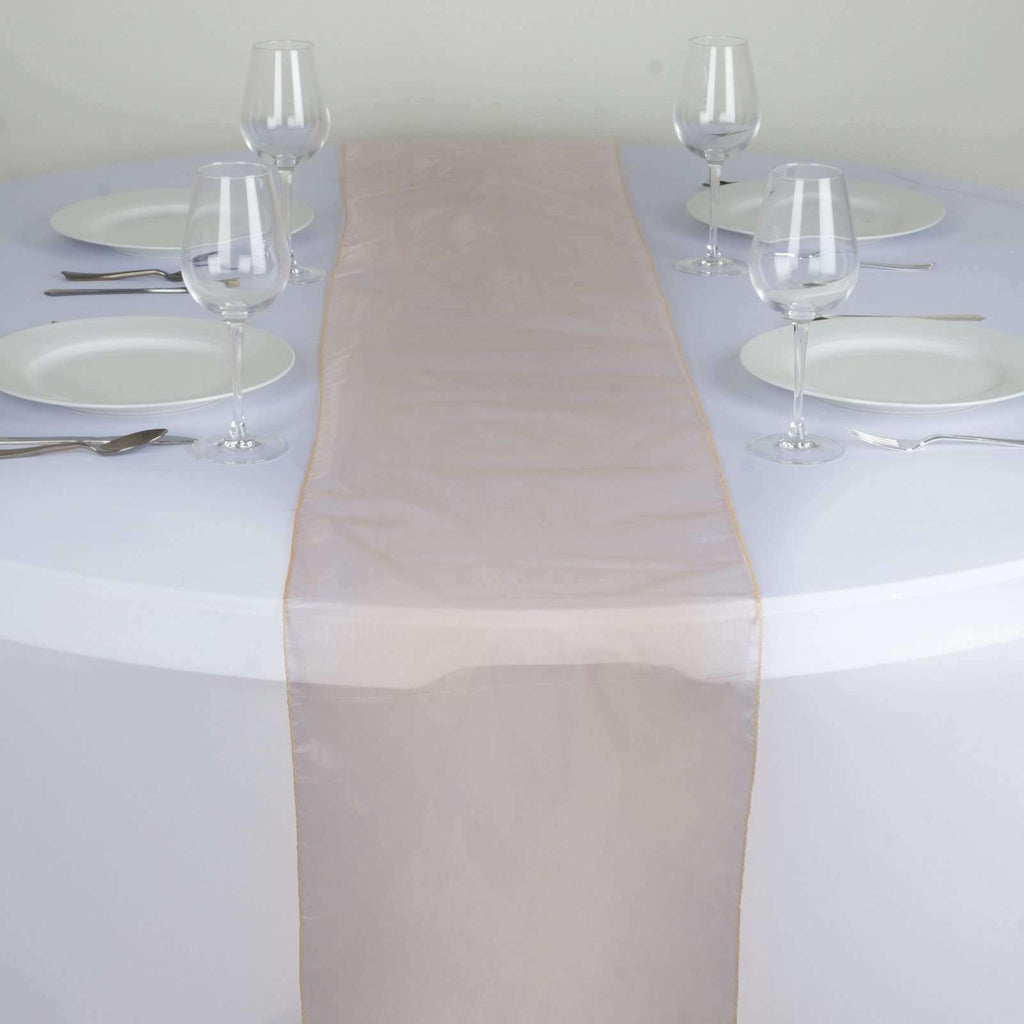 Table Runner Organza - Peach