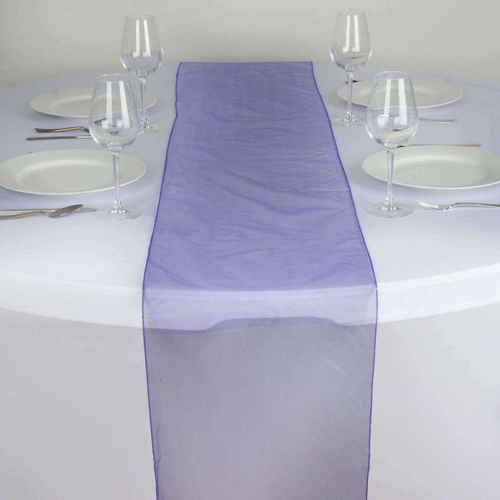 Table Runner Organza - Purple
